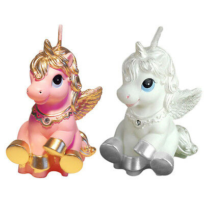Unicorn Horse Kid Happy Birthday Candle Party Cake Topper Decoration Candles New