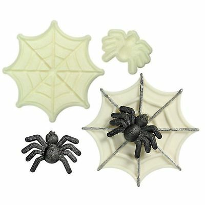 Jem Cake Sugarcraft Pop It Mould Spider Web Cutters Set of 2 Cupcake Toppers