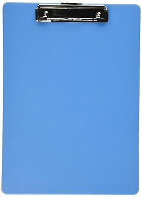 Officemate OIC Plastic Clipboard, Letter Size, Arctic Blue 83048