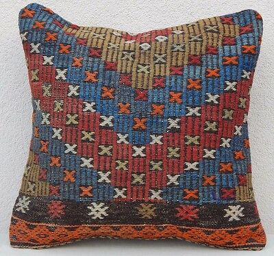 20''X20'' Old Kilim Pillow Cover Euro Sham Outdoor Pillow Geometric Pillow Case