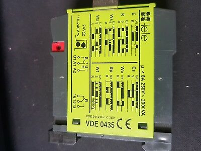 Tele D6dm multifunction delay timer. 8 ranges 1 changeover relay