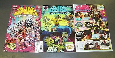 3x GWAR ORGASMAGEDDON 2; A SAWYER B DRAKULICH C HEARTTHROB PHOTO VARIANT HOT