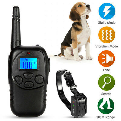 New Electric 100LV Levels Shock Vibra Pet Dog Training Remote Control E-Collar