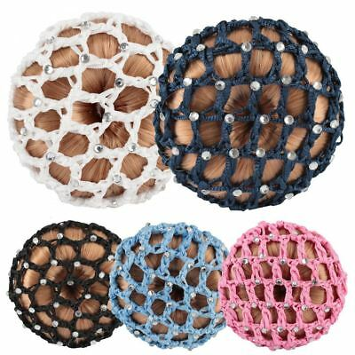 Horka Ladies Girls Hair Net Stones Bun Horse Riding Competition Accessories