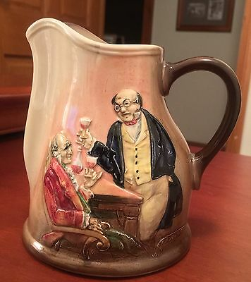 Royal Doulton ~ Dickens Ware ~ Molded Mr Pickwick Pitcher / Jug
