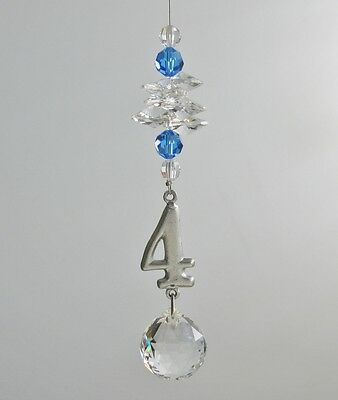 Suncatcher Numerology Life's Number's -  No. 4   Made With Swarovski Crystal