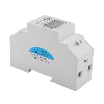 50Hz 5(50)A 230V Electricity KWH Power Energy Meter Single Phase DIN Rail TE748
