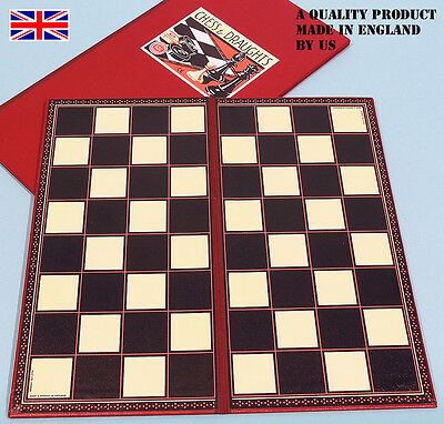 Handmade Folding Chess / Draughts Board - 35cm (350mm) - Ref: 00405