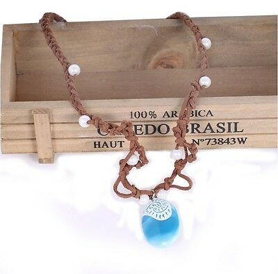 New Girls Moana Necklace with Blue Stone for Kids