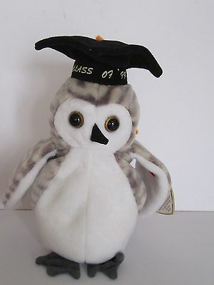 7f710a0bdae Ty Beanie Babies Wiser Owl Class Of 99 Date Of Birth June 4Th 1999 New With