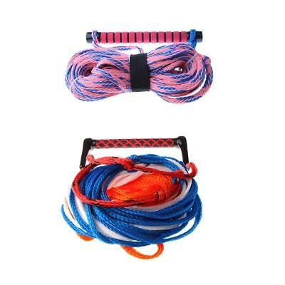 23m Deluxe 15mm Water Ski Wakeboard Kneeboard Tow Rope Line Cord with Handle