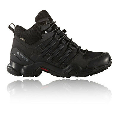 Adidas Terrex Swift R Mid Mens Black Gore Tex Hiking Walking Boots Shoes