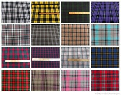 Fashion Tartan Plaid Check Polyviscose Dress Fabric 150cms Wide FREE P&P