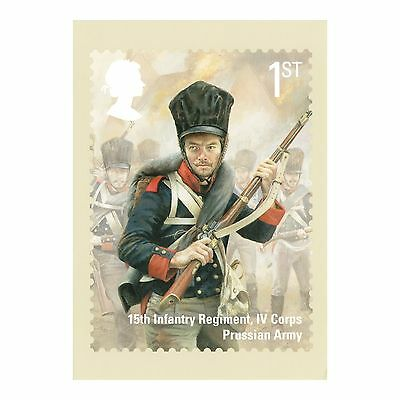 The Battle Of Waterloo - Prussian Army Infantry Regiment R Mail Phq 403 Postcard