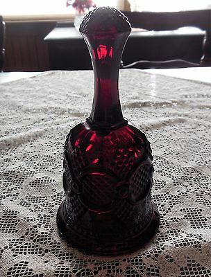 AVON 1876 Cape Cod Ruby Red Dinner Bell with Glass Ball Ringer