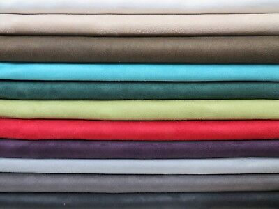 Faux Suede Suedette Fabric Alcantara Upholstery Polyester Fabric - 150 Cms Wide