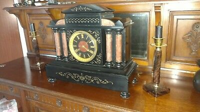 Le Roy a caen,  antique slate mantel clock