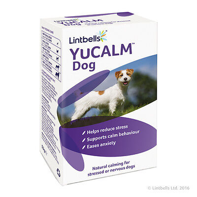 Lintbells YuCALM DOG Dog Calming Supplement for Stress & Anxiety BEST PRICE!!