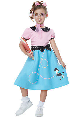 Brand New 50's Pink Ladies Grease Sock Hop Dress Child Costume