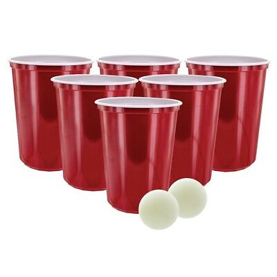 Giant Beer Pong Game 12 Xxl Cups 2 Ping Pong Balls Adult Drinking Fun Game Party