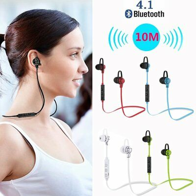 Wireless Bluetooth 4.1 Stereo Earphone Earbuds Sport Headset Headphone with Mic