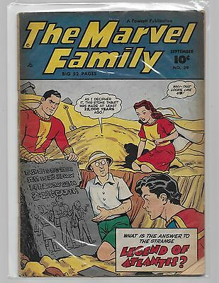 THE MARVEL FAMILY # 39/Legend of Atlantis/ complete solid comic