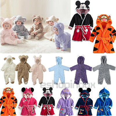 Animal Newborn Girls Boys Bath Robe Sleepwear Child's Pajamas Jumpsuit Nightwear