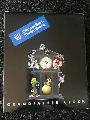 Warner Bros. Studio Store Looney Tunes Grandfather Clock Bugs Sealed MIB WBSS