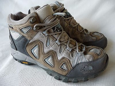 Womens Brown Leather Gortex Walking Shoes Size
