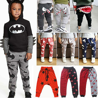 Boys Girl Kid Harem Pants Trousers Sweatpants Casual Sportswear Trackpants Slack