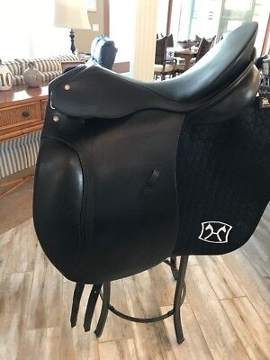 "REDUCED!! Passier Antares 17"" Dressage Saddle, Med Tree, Black, Good Condition"