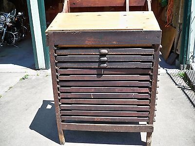 Antique Wood Type Cabinet