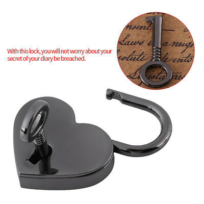 Cute Small Heart Shape Padlock Sliver Mini Craft Toy Diary Bag Lock&Key  Gifts