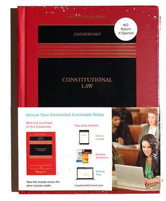 Constitutional Law by Erwin Chemerinsky 2016, Hardcover 5th Edition