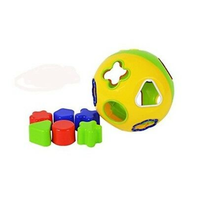 Infant Toddler Shape Sorting Geometric Toy Blocks Colourful Round Ball Baby NEW