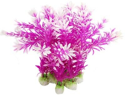 Sourcingmap Plastic Aquarium Plants Fish Tank Ornament, Purple/Pink