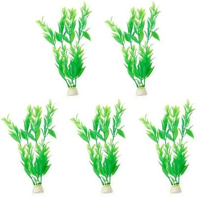 Sourcingmap Plastic Aquarium Aquascape Plants Ornament, Green, 5-Piece