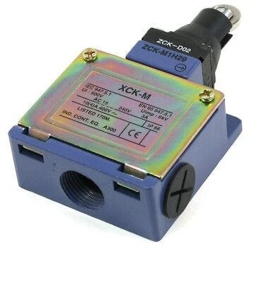 Roller Head NC NO Momentary Micro Limit Switch 400VAC/4A 220VAC/3A