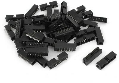 Sourcingmap 50pcs DC3-20P 2 Row 20 Pin 2.54MM JTAG Connector For Flat Ribbon