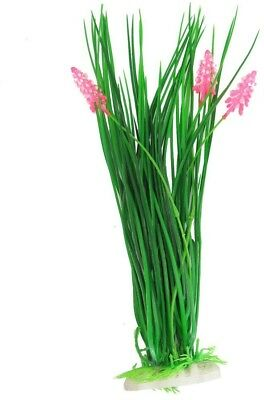 Sourcingmap Plastic Aquarium Flowering Grass Plants, 16-Inch X 3-Inch,