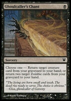 MTG 4x GHOULCALLER'S CHANT - Innistrad *For Zombie Deck*