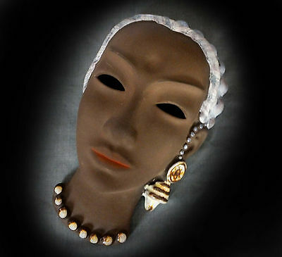 SUPERB, RARE ART DECO KARLSRUHE WALL MASK by MAX LAUGER?