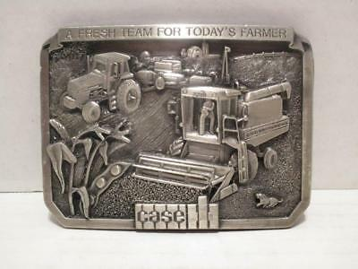 PRE-OWNED 1985 1st Limited Edition Case IH Tractor Combine Pewter Belt Buckle