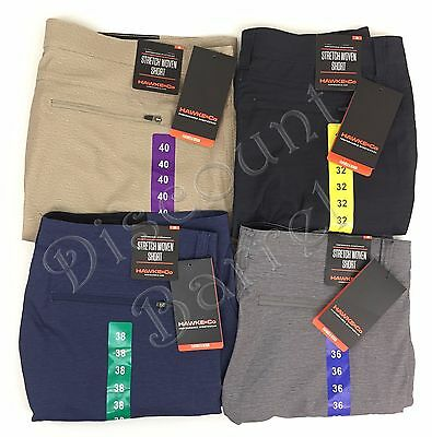 New Hawke & Co. Men's Flex Waist Stretch Woven Shorts Performance Variety