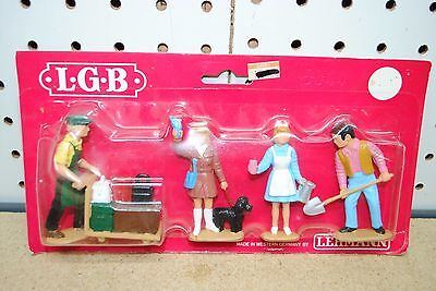 LGB 5044 Train Station Personnel & Woman w/Dog *G-Scale* NEW