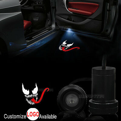 2x Car Door Venom Spider-Man Logo LED Laser Projector Ghost Shadow Welcome Light