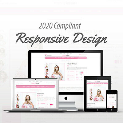2018 Compliant Mobile Responsive Ebay Auction Listing Template Wedding Design