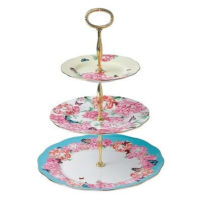 NEW Miranda Kerr for Royal Albert 3 Tier Cake Stand. BONE CHINA HIGH TEA  SAVE!