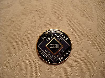 Narcotics Anonymous Thirtythree Year Purple Medallion