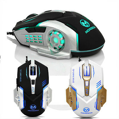 6 Buttons 3200 DPI LED Mechanical Wired PRO Gamer Gaming Mouse For PC Laptop